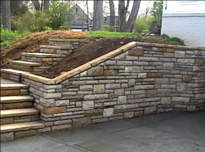 Little Rock Brick and Stone Step installation